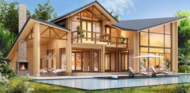 dom, architektura, budowla