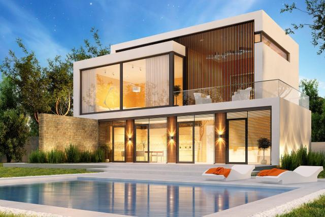 architektura, budowla, dom