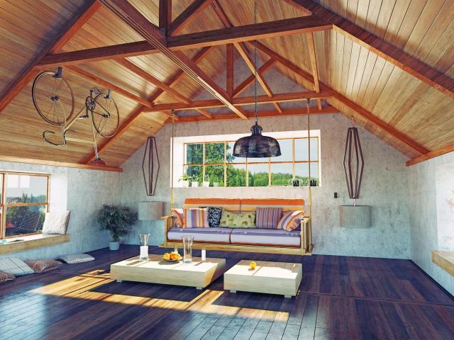 kuchnia, wnętrze, dom