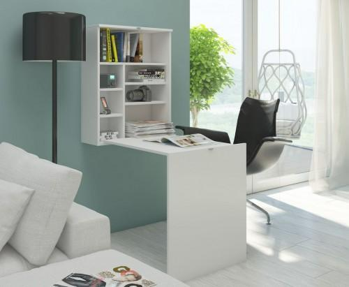 Małe domowe biuro w stylu skandynawskim - pomysł na aranżację