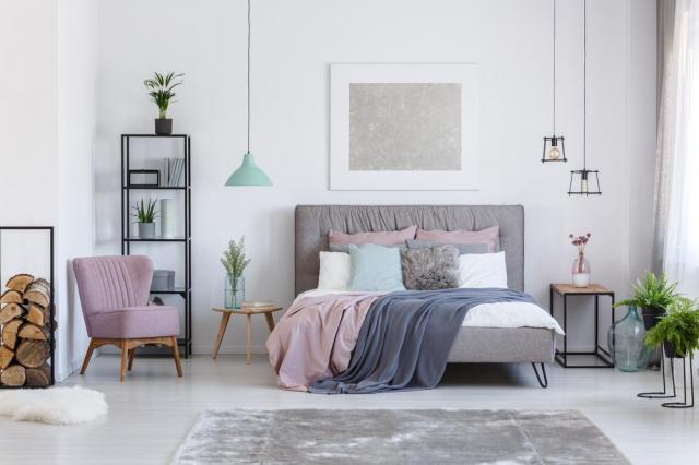 artykuł partnerski, łóżko, aranżacja sypialni